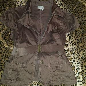 Brown Blazer type jacket with belt
